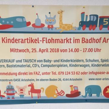 1. OASE Kinderartikel-Flohmarkt im Badhof Arlesheim